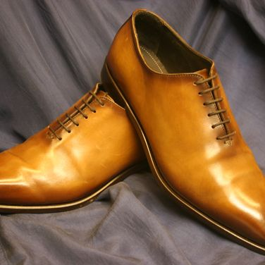 Mens Brown Italian Leather Shoes