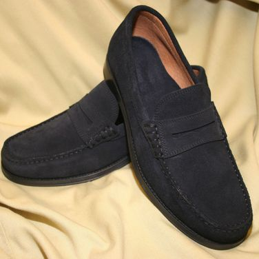 Article 9294 Natural Suede Navy Blue